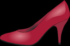 High Heeled Footwear, Footwear, Red, Pink Stock Photo