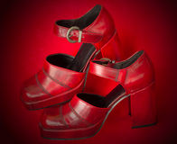 High heeled red shoes Royalty Free Stock Photos