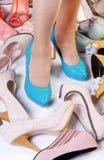 High-heeled schoenen stock afbeelding