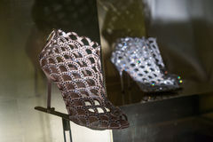 High-heeled schoenen royalty-vrije stock afbeeldingen