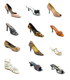 High heeled shoe collection Stock Photography