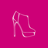 High-heeled shoes. boots for women. footwear. Boots for women. footwear. high-heeled shoes Stock Image