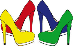 High-heeled shoes Stock Photo