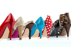 High-heeled shoes Royalty Free Stock Photography