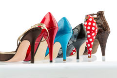 High-heeled shoes Stock Image