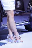 High heeled shoes of female model Royalty Free Stock Image