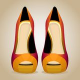 A High-Heeled Shoes. Isolated Vector Illustration Royalty Free Stock Photo