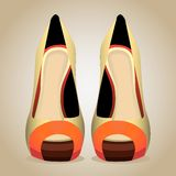 A High-Heeled Shoes. Isolated Vector Illustration Stock Image