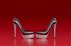 High heeled shoes Stock Image