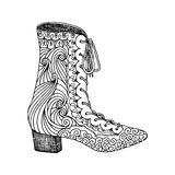 High-heeled shoes for woman. Fashion footwear artwork in shoe style pattern fill. Royalty Free Stock Photography