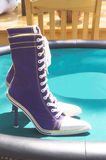 High heeled sneakers Royalty Free Stock Image