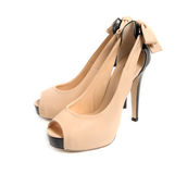 High heeled stiletto sandals Stock Photos