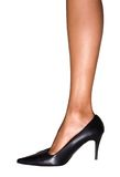 High heels. Young woman in high heels royalty free stock photo