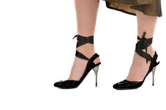 High heels. Attractive legs and high heels Stock Images