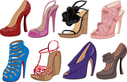 High heels vector illustration