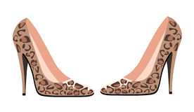 High heels. Illustration of a pair of elegant  high heel shoes Royalty Free Stock Image