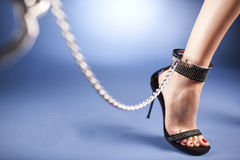 High Heels And Ankle Cuffs Royalty Free Stock Photography