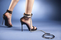 High heels and ankle cuffs Royalty Free Stock Photos