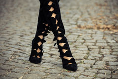 High heels boots Stock Photography