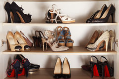 High Heels Cabinet Stock Images