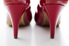 High heels. Close up of red high heels Stock Image