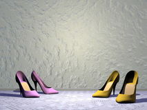 High heels - 3D render Stock Images