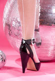 High heels and disco balls Royalty Free Stock Photos