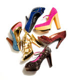 High heels fashion composition Royalty Free Stock Photos