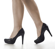 High heels. Image is posed on white background Royalty Free Stock Image