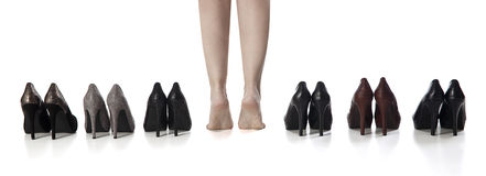 High heels. Image is posed on white background Stock Image