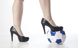 High heels. Image is posed on white background Stock Photo