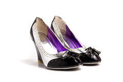 High heels isolated at plain white. Background Royalty Free Stock Images
