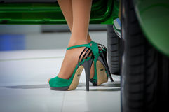 High Heels and legs Stock Photo