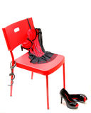 High heels, Lingerie and Handcuffs Royalty Free Stock Photo