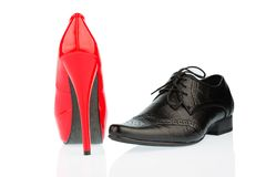 High heels and men's shoe Royalty Free Stock Photography