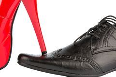 High heels and men's shoe Royalty Free Stock Image