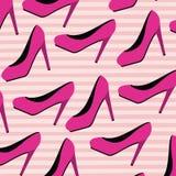 3900db526 High heels pattern set on pop art linear color background. Vector  illustration stock illustration