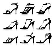 High heels profiles Stock Photos