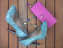 High heels and purse Stock Images