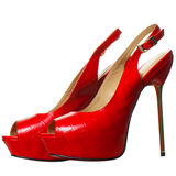 High Heels Red Shoes Stock Photo