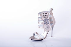 High heels with rhinestones Royalty Free Stock Photography