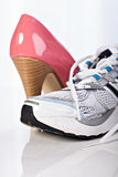 High Heels and runners Stock Images