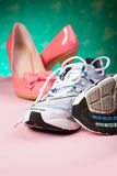 High Heels and runners Royalty Free Stock Photos