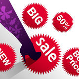 High heels and sales Royalty Free Stock Images