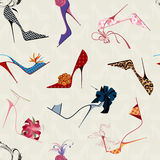 High heels seamless pattern stock illustration