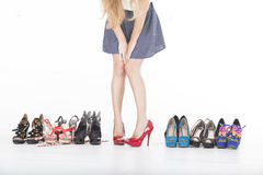 High heels and shoes Royalty Free Stock Images