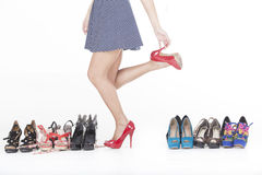 High heels and shoes Stock Images