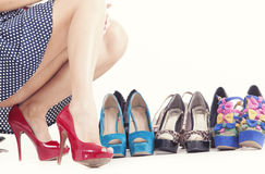 High heels and shoes Stock Photo