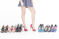 High heels and shoes Royalty Free Stock Photos