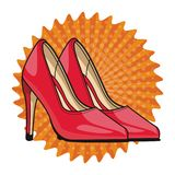 High heels shoes stock illustration